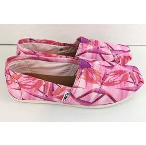 NEW TOMS Pink Floral Shoes